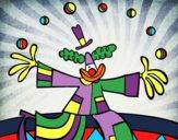 Desenho Palhaço malabarista pintado por Craudia