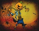 Abóbora de Halloween monstrosa