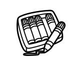 Desenho de 5 canetas hidrográficas para colorear