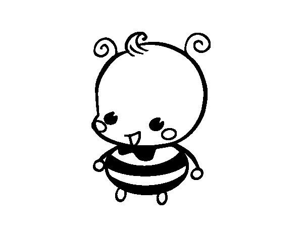 Desenho de Abelha bebé para Colorir