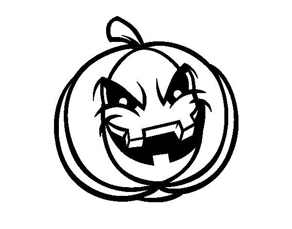 Desenho de Abóbora demoniaco  para Colorir