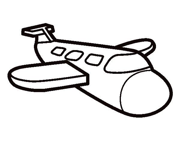 Desenho de Airbus para Colorir