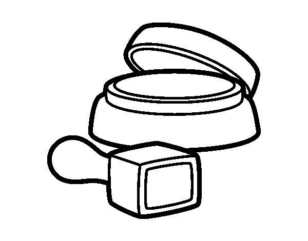 Desenho de Almofada de tinta para Colorir