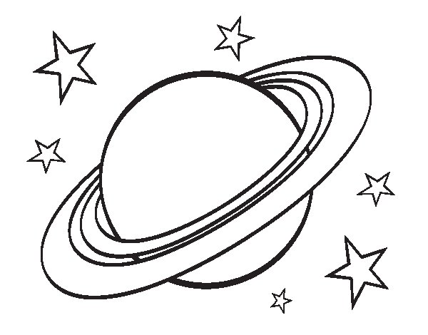 Desenho de Anel planetário para Colorir