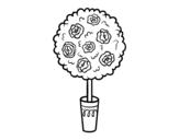 Desenho de Arbusto para colorear