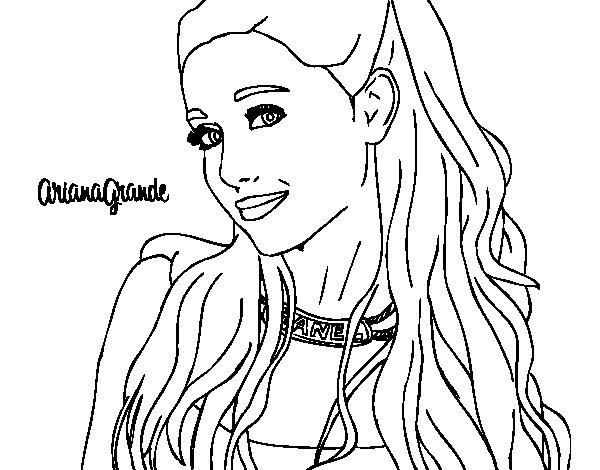 Kleurplaat Neymar Desenho De Ariana Grande Com Coleira Para Colorir