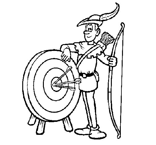 Desenho de Arqueiro para Colorir