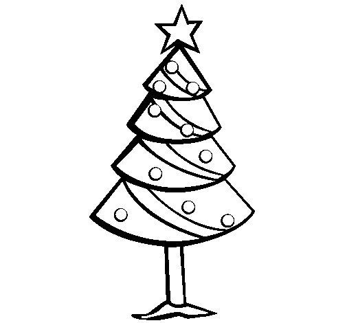 Desenho De Árvore De Natal II Para Colorir
