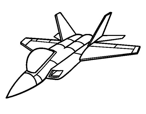 Desenho De Avião Caça Para Colorir