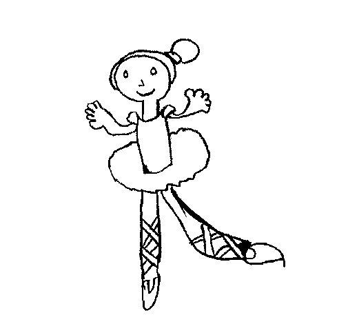 Desenho de Bailarina para Colorir