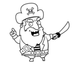 Desenho de Barba Ruiva para colorear