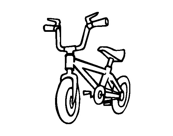 Desenho de Bicicleta infantil para Colorir