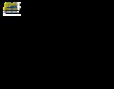 Desenho de Bob Esponja - Super Maneiríssimo atirando para colorear