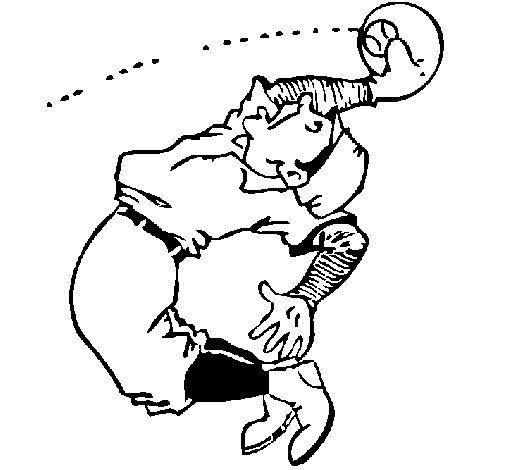 Desenho de Bola agarrada para Colorir