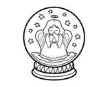 Dibujo de Bola de neve com anjo