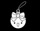 Desenho de Bola natalícia para colorear