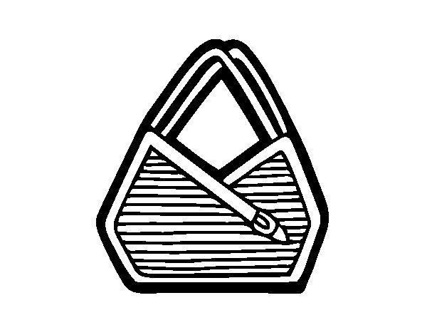Desenho de Bolsa de ombro para Colorir