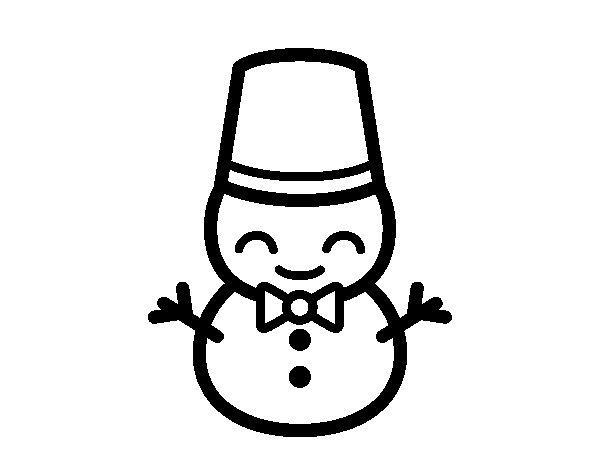 Desenho de Boneco de neve 5 para Colorir