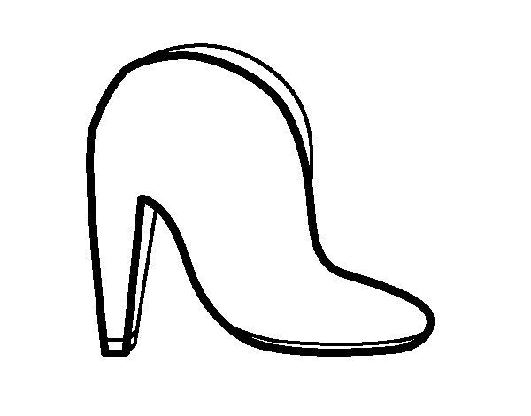 Desenho de Bota alta simples para Colorir