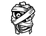 Desenho de Cabeça da múmia para colorear