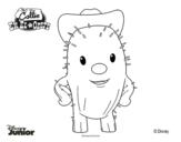 Desenho de Callie no Oeste - Toby para colorear