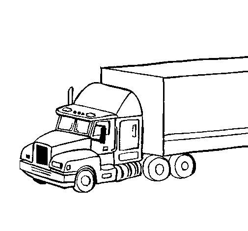 Desenho de Camião trailer para Colorir