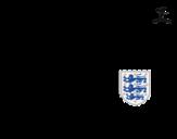 Desenho de Camisa da copa do mundo de futebol 2014 da Inglaterra para colorear