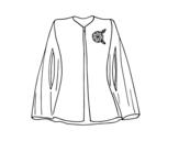 Desenho de Camisa elegante com broche para colorear