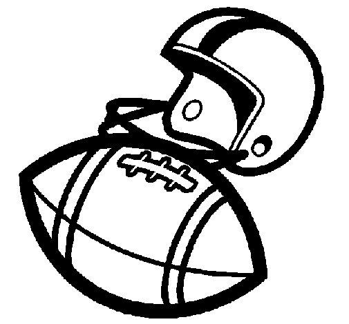 Desenho de Capacete e bola para Colorir