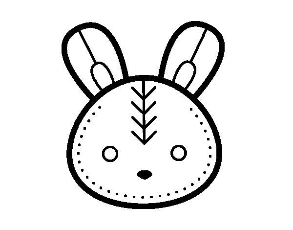 Desenho de Cara do coelhinho da Páscoa para Colorir