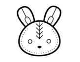 Desenho de Cara do coelhinho da Páscoa para colorear
