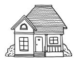 Desenho de Casa de campo para colorear