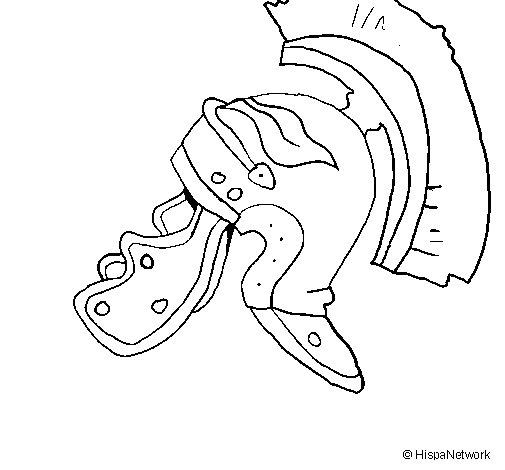 Desenho de Casco romano II para Colorir
