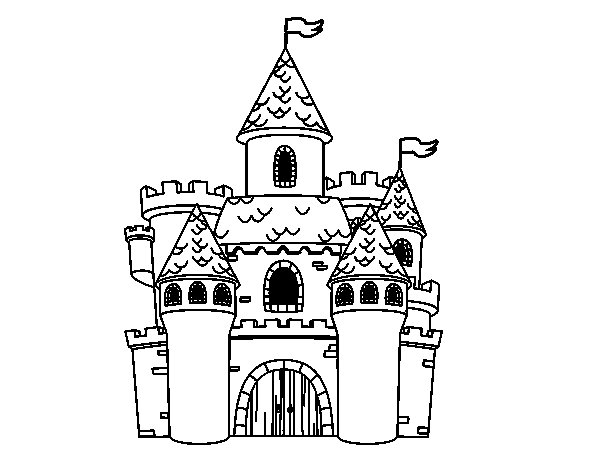 Desenho de Castelo da fantasia para Colorir - Colorir.com