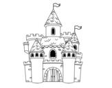 Desenho de Castelo da fantasia para colorear