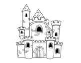 Desenho de Castelo de conto para colorear
