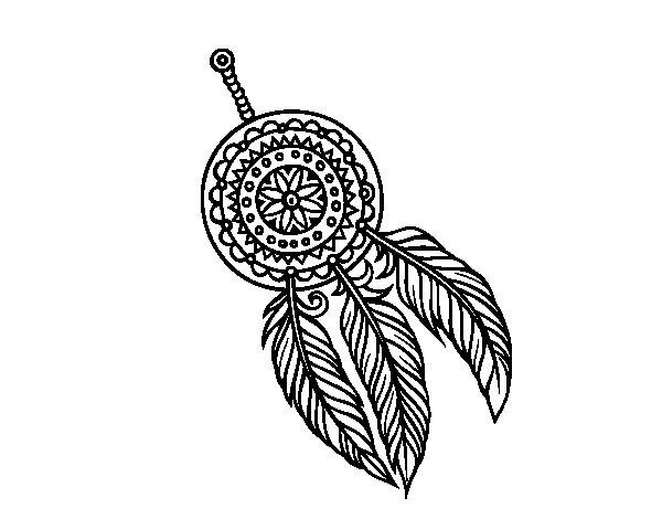 Desenho de Catasonhos indiano para Colorir