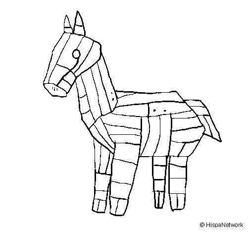 Desenho de Cavalo de Tróia para Colorir