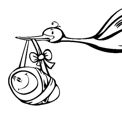 Desenho de Cegonha  para Colorir