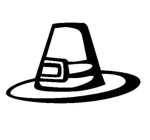 Desenho de Chapéu peregrino para Colorir