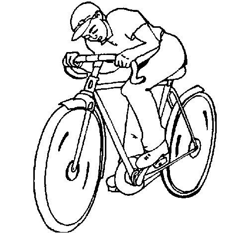 Desenho de Ciclismo para Colorir