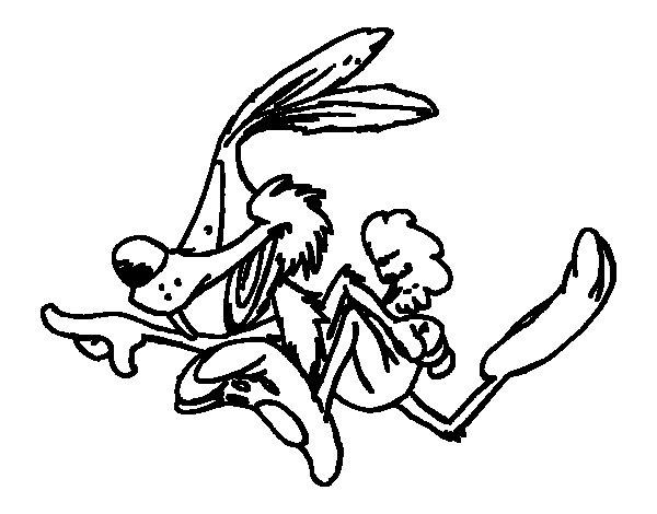 Desenho de Coiote a correr para Colorir