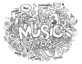 Desenho de Colagem musical para colorear