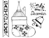Desenho de Collage Santa Claus para colorear