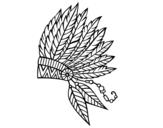 Desenho de Coroa de penas indiana para colorear