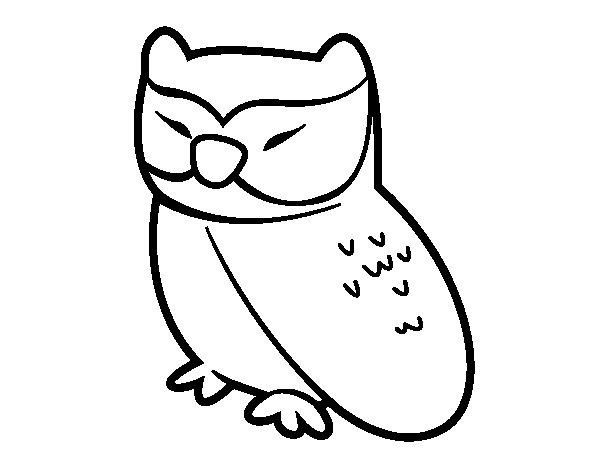Desenho de Coruja relaxado para Colorir