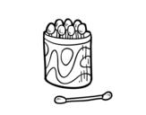 Desenho de Cotonete para a orelha para colorear