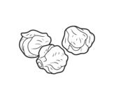Desenho de Couves de bruxelas para colorear