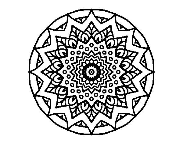 Desenho de Crescente mandala para Colorir