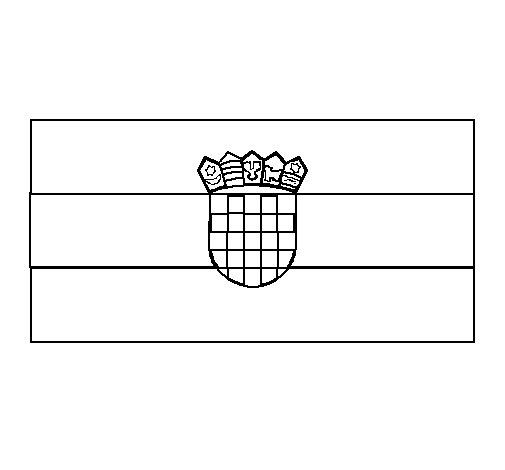 Desenho de Croácia para Colorir